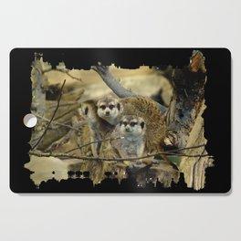African Meerkat Trio Cutting Board