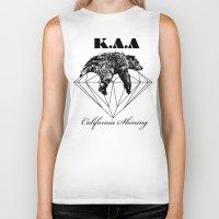 the shining Biker Tanks featuring California shining by Kris alan apparel
