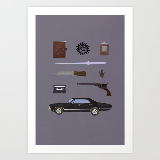 Supernatural v2 Art Print