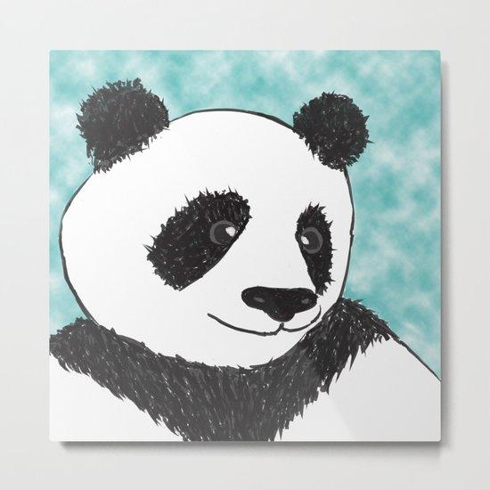 Panda Face Metal Print