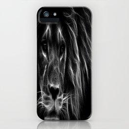 lion.  Black & White iPhone Case
