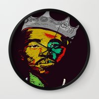 tupac Wall Clocks featuring Tupac's Back by Dazed N Amused