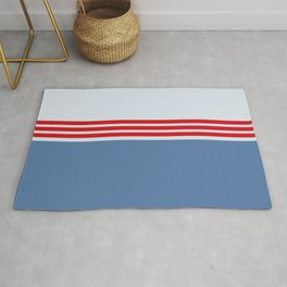 Modern Minimal Striped Blue 09 Rug