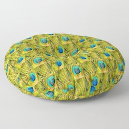 Peacock feather pattern Floor Pillow