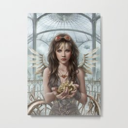 Steam Heart Metal Print