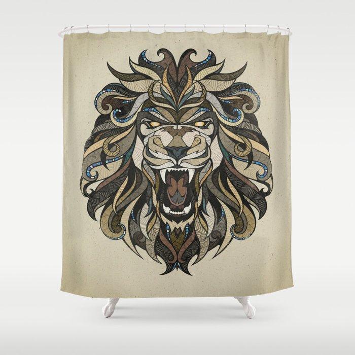 Lion Shower Curtain By Designerpreis