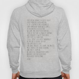 The Guest House #poem #inspirational Hoody