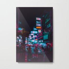 Nightmarket / Bladerunner Vibes / Bangkok Metal Print