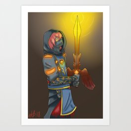 powers of the past Art Print