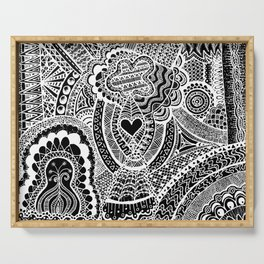 Love Doodle Serving Tray