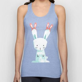 Four Eared Bunny Unisex Tank Top