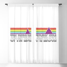 The Dark Side Of The Moon Retro Blackout Curtain