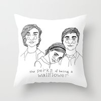 the perks of being a wallflower Throw Pillows featuring The Perks of Being a Wallflower by ☿ cactei ☿