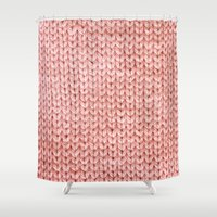knit Shower Curtains featuring Knit by Melissa Jackson