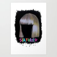 amy sia Art Prints featuring SIA by Melina Espinoza