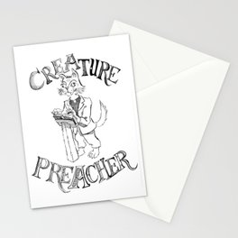 Creature Preacher Stationery Cards