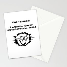 Early warning Stationery Cards