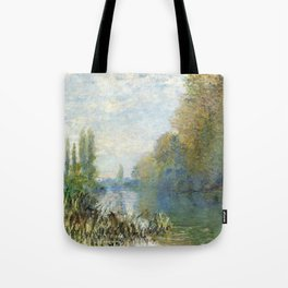 The Banks of The Seine in Autumn by Claude Monet Tote Bag