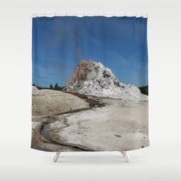 White Dome Shower Curtain