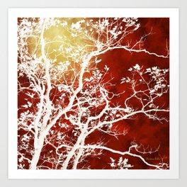 Burgundy Tree Art Art Print