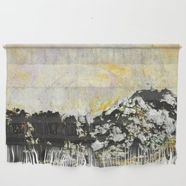 Golden mountains Wall Hanging