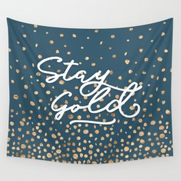 Stay Gold - Golden Drops Wall Tapestry