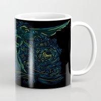 pacific rim Mugs featuring Pacific Rim - Starry Kaiju by Charleighkat