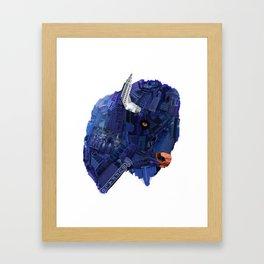 Face of Buffalo Framed Art Print