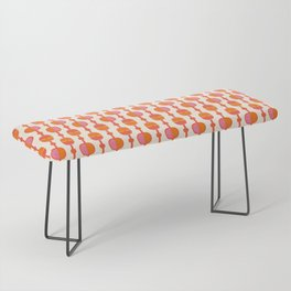 Mid Century Retro Dots Bench