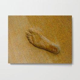 Leave Only Footprints Metal Print