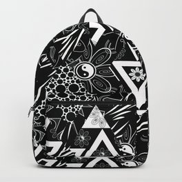 Abstract black and white pattern Backpack