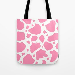 pink and white animal print cow spots Tote Bag