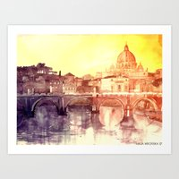 rome Art Prints featuring Rome by takmaj