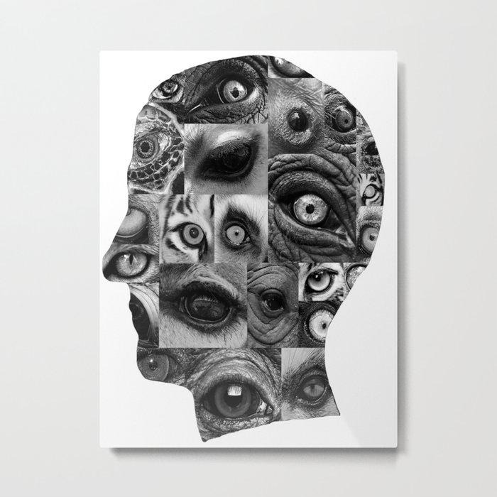 head of eyes Metal Print