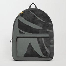 Tropical and golden V Backpack