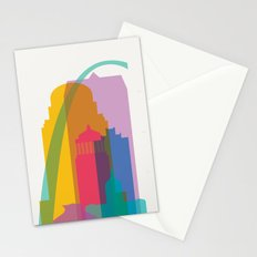 Shapes of St. Louis. Accurate to scale Stationery Cards