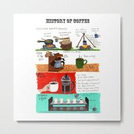 History of Coffee Metal Print