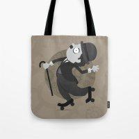 chaplin Tote Bags featuring Chaplin by GARABATOS