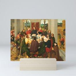 The Last Supper - 15th Century Painting Mini Art Print