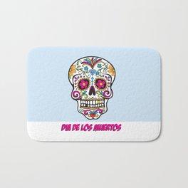 Skull Dia de los Muertos Bath Mat