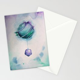 Planetary Moon Drips Stationery Cards