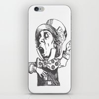 mad hatter iPhone & iPod Skins featuring Mad Hatter by Emma Porter