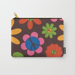 Peace, Love + Daisies Carry-All Pouch