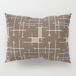 Intersecting Lines in Brown, Tan and Gray Pillow Sham