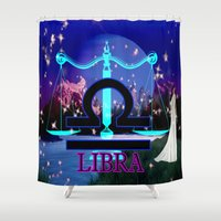 libra Shower Curtains featuring Libra by LBH Dezines