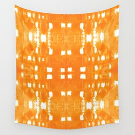 Shibori City Orange Wall Tapestry