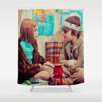 tenenbaum Shower Curtains featuring Tenenbaum by Malice of Alice