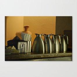 Steel Milk Jugs Canvas Print
