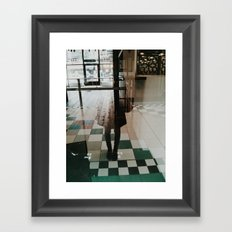 ghost selfie Framed Art Print