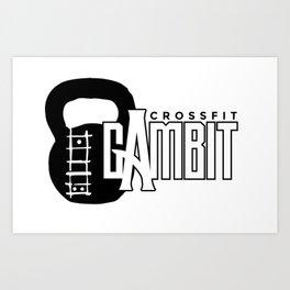CFG Kettle bell logo Art Print